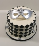 Venetian mask cake6