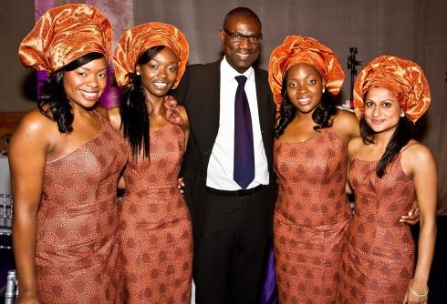 Yemi and Bridesmaids